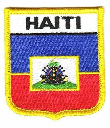 Wappen Aufnäher Haiti Patch Flagge Fahne