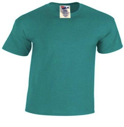 Hanes Plain Emerald Jade Green Childs Boys Girls 3-4 Years Beefy T-Shirt