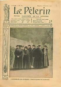Assemblee-des-Eveques-Jardin-l-039-Archeveche-de-Paris-Mgr-Richard-1906-ILLUSTRATION
