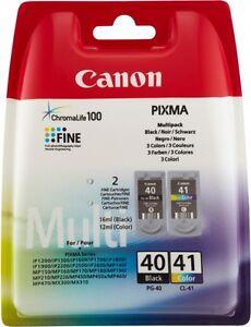Cartucce-0615B0-PG-40-Nero-CL-41-Colore-Originale-per-Canon-MP-190