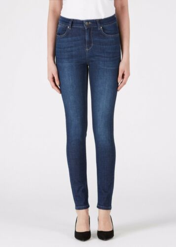 DONNA IDA RIZZO HIGH TOP ANKLE SKINNY FOREVER BLUE ALL SIZES