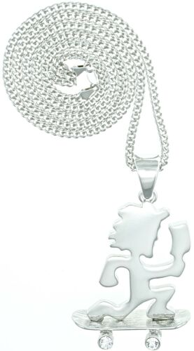 Skateboard Juggalo Necklace New Pendant With 30 Inch Cuban Link Chain Insane