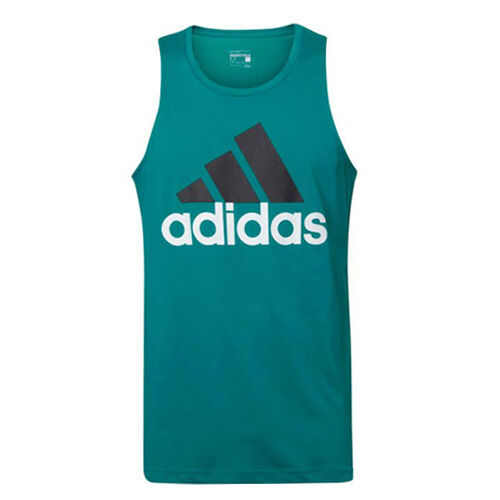 Adidas Sport Essentials Mens Green Climalite Gym Tank Top AK1804 R1A