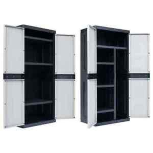 Vidaxl Armoire De Rangement De Jardin Garage Xxl Plastique Cabane Multi Modele Ebay