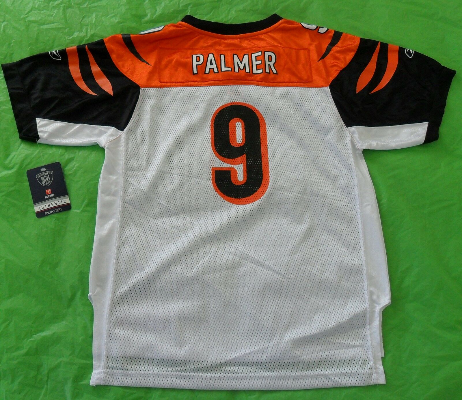 NWTReebok Cincinnati BENGALS CARSON PALMERJersey NFL football shirtYOUTHS XL