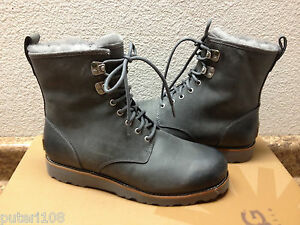 Image is loading UGG-MEN-HANNEN-METAL-LEATHER-Boot-US-9-