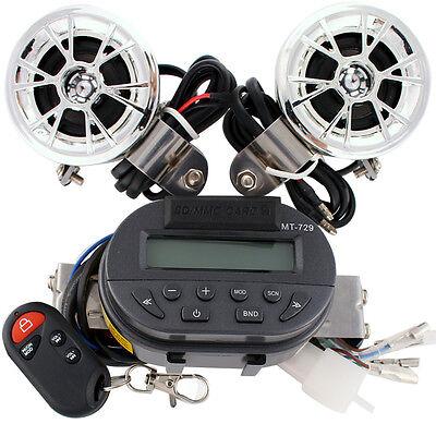 Motorcycle Handlebar Remote Radio Audio MP3 Speaker Stereo Amplifier For Harley
