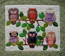 Quilt PATTERN Whooters owl hooters applique easy fun