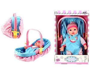 Cute-Baby-Poupee-34-Cm-Et-Son-Cosi
