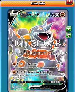 Rhyperior V FA FULL ART Pokemon TCG Online PTCGO 181//189 DIGITAL CARD SENT FAST