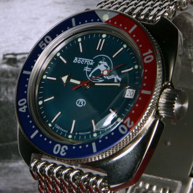 Vostok Amphibian 710059 Military Russian Diver Watch 200m Automatic ... fda0e76c1d