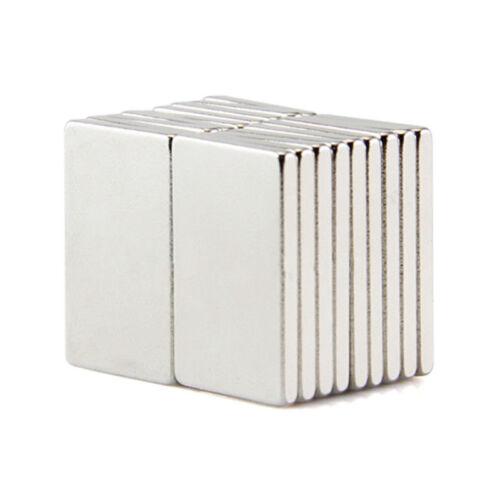 1//5x Forte Blocco Magneti Frigo N35 magnetico al Neodimio Terre Rare 20x10x2mm