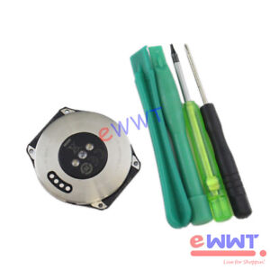 Silber-Steel-Metall-Rueck-Gehaeuse-Schale-Tool-fuer-Huawei-Watch-2-LTE-2017-ZVHS753