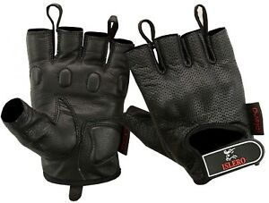ISLERO-Premium-Leather-Cycling-Motorbike-Gloves-Carbon-Fiber-Knuckles-Protection