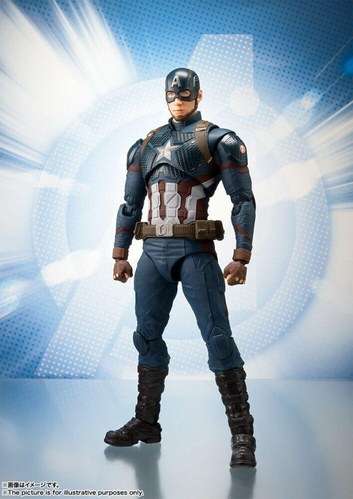 Bandai S.H. Figuarts Capitán América (Avengers juego de extremo) Figura de acción, Stock