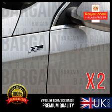 2X VW R LINE SPORT BOOT WING BADGE PARTS EXHAUST LIGHTS GOLF TSI GTI TDI PASSAT