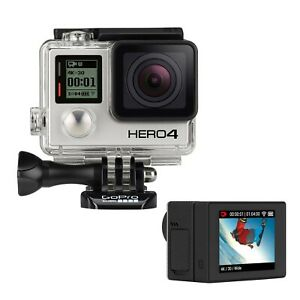 GoPro HERO4 Black Action Camera Camcorder Certified Refurbished + New LCD BacPac
