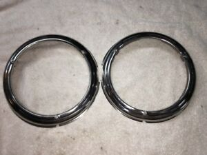 1946-1947-1948-Plymouth-Headlamp-Bezels-One-Set-Right-And-Left-Side-Mopar-NOS