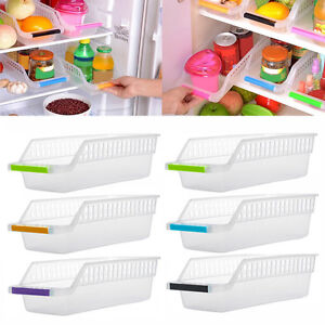 Fridge-Freezer-Saver-Rack-Shelf-Holder-Organizer-Drawer-Crate-Extendable-Box