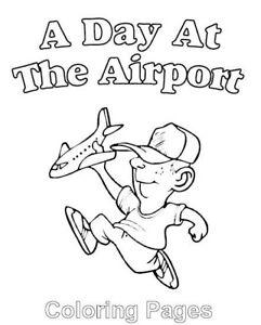 Malbuch 67 Malvorlagen Airport Flughafen Ausmalbilder Als Pdf Kinder Malen Ebay