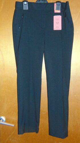 M/&S Adj.Waist StainProof Plus Fit SlimLeg School Trousers 13-14y 164cm BlackBNWT