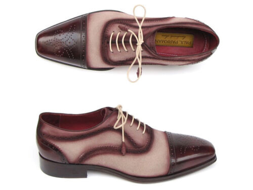 Oxfords Beige handgeschilderd suede An Bordeaux heren Captoe Parkman boven Paul E1UXHxH