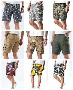 Mens-Army-Military-Style-BDU-Work-Shorts-Street-Casual-Camo-Cargo-Shorts