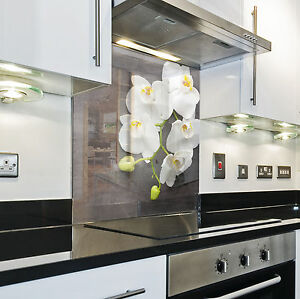 Splashback paraschizzi paraspruzzi rivestimento cucina fiore natura bianco ebay - Rivestimento cucina bianco ...