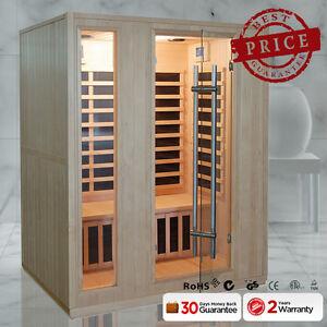 New-Luxo-3-Person-Carbon-Fibre-Far-Infrared-Indoor-Detox-Box-Sauna-Room-Cabin