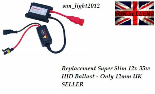 Only 12mm UK SELLER Replacement Super Slim 12v 35w HID Ballast