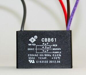 Ceiling Fan Capacitor Cbb61 4uf 4 5uf 5uf 4 Wire Ebay