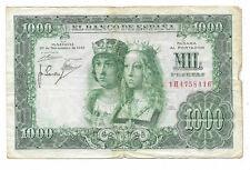 ESPAÑA: 1000 PESETAS REYES CATÓLICOS. AÑO 1957. CON SERIE. RC+. BUENO Y BARATO.