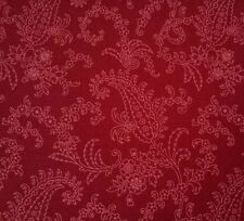 Civil War Faye Burgos for Marcus Brothers BTY Deep Tonal Red Paisley Floral