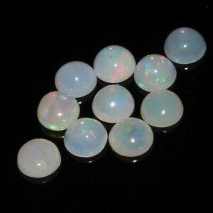 Ein Paar 2mm Rundgeschliffen Weiß Natürlich Äthiopische Opal Edelsteine