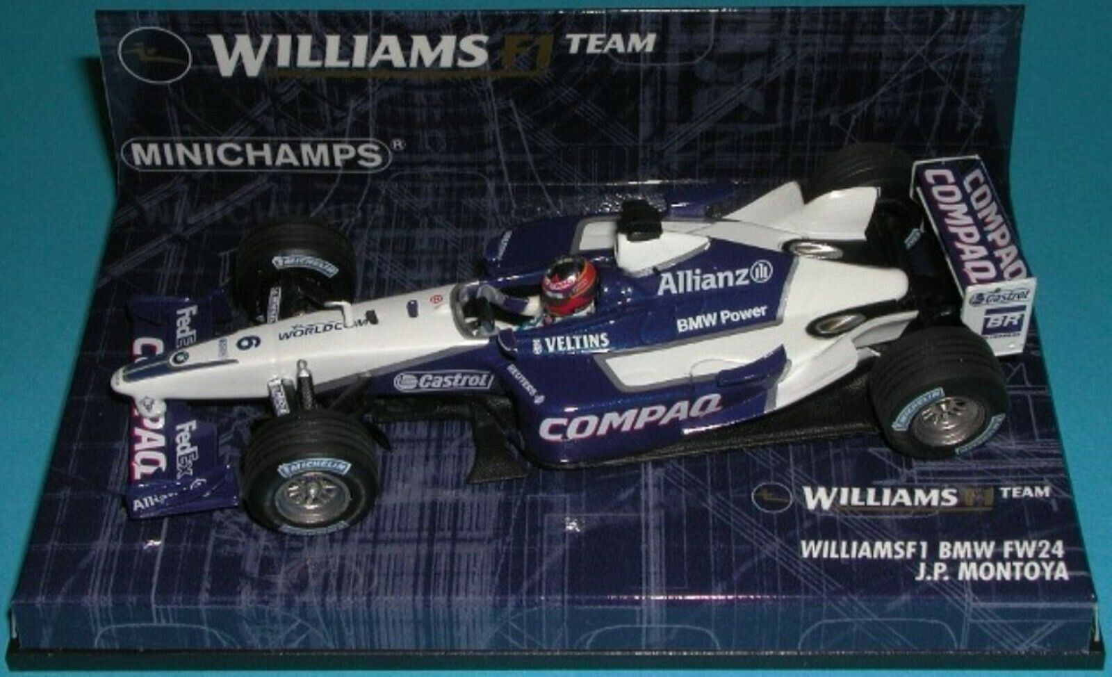 Wow extrêmeHommest rare WILLIAMS FW24  MONTOYA GP NÜRBURGbague 2002 1 43 Minichamps  vente en ligne