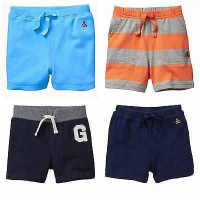 New baby Gap Boy Blue Orange Cotton Shorts Bottom Brannan bear Logo 3-18Months