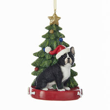 French Bulldog w/Tree Ornament