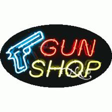 "BRAND NEW ""GUN SHOP"" 30x17 OVAL SOLID/FLASH REAL NEON SIGN w/CUSTOM OPTION 14349"