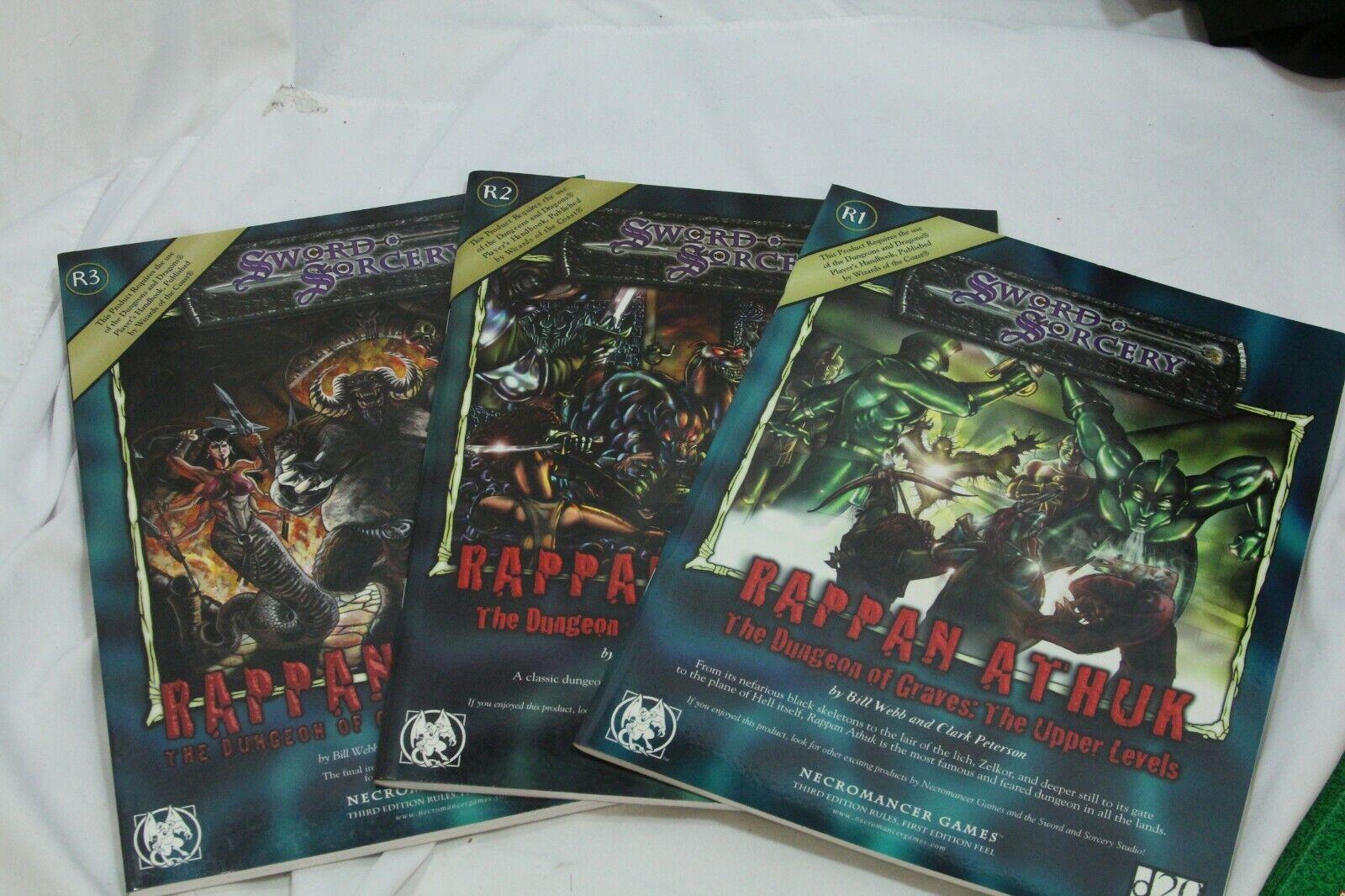 3 Rappan athuk mazmorra de tumbas mitad súperior Sword & Sorcery D20 niveles más bajos