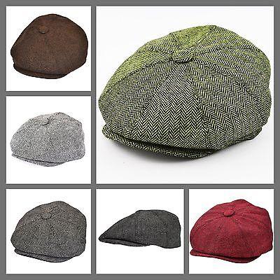 G/&H TWEED FLAT CAP BOYS GATSBY FLAT CAP COUNTRY FLAT CAP TAN BROWN