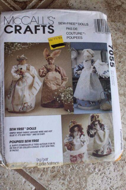 Mccalls Sewing Pattern Uncut 7055 Sew Dolls Crafts Dottie Kitty