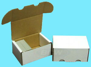 Details About 3 Bcw 300 Count Cardboard Storage Boxes Trading Sports Card Holder Case Baseball