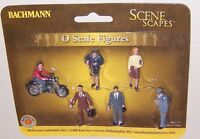 Bachmann Scene Scapes O Scale City People With Motorcycle