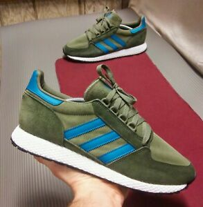 Adidas-Forest-Grove-Men-039-s-Size-12-EE8970-Raw-Khaki-Active-Teal-Night-Cargo