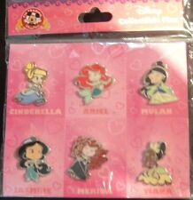 Disney Cute Stylized Princesses Booster Set-Contains 6 Pins- NOC- Pin# 119514