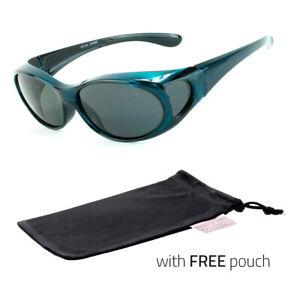 Polarized-Sunglasses-cover-put-wear-over-Prescription-Glasses-fit-driving-Blue
