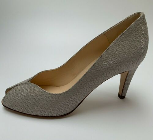 Peter Kaiser /'Sevilia/' grey// silver peep toe courts UK 5.5// EU 39 RRP £139 BNWB