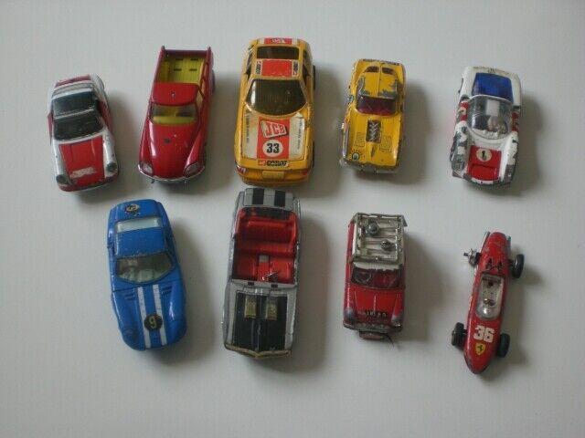 CORGI TOYS CARS x 9 for RESTORATION PROJECT,See Pics & Description.