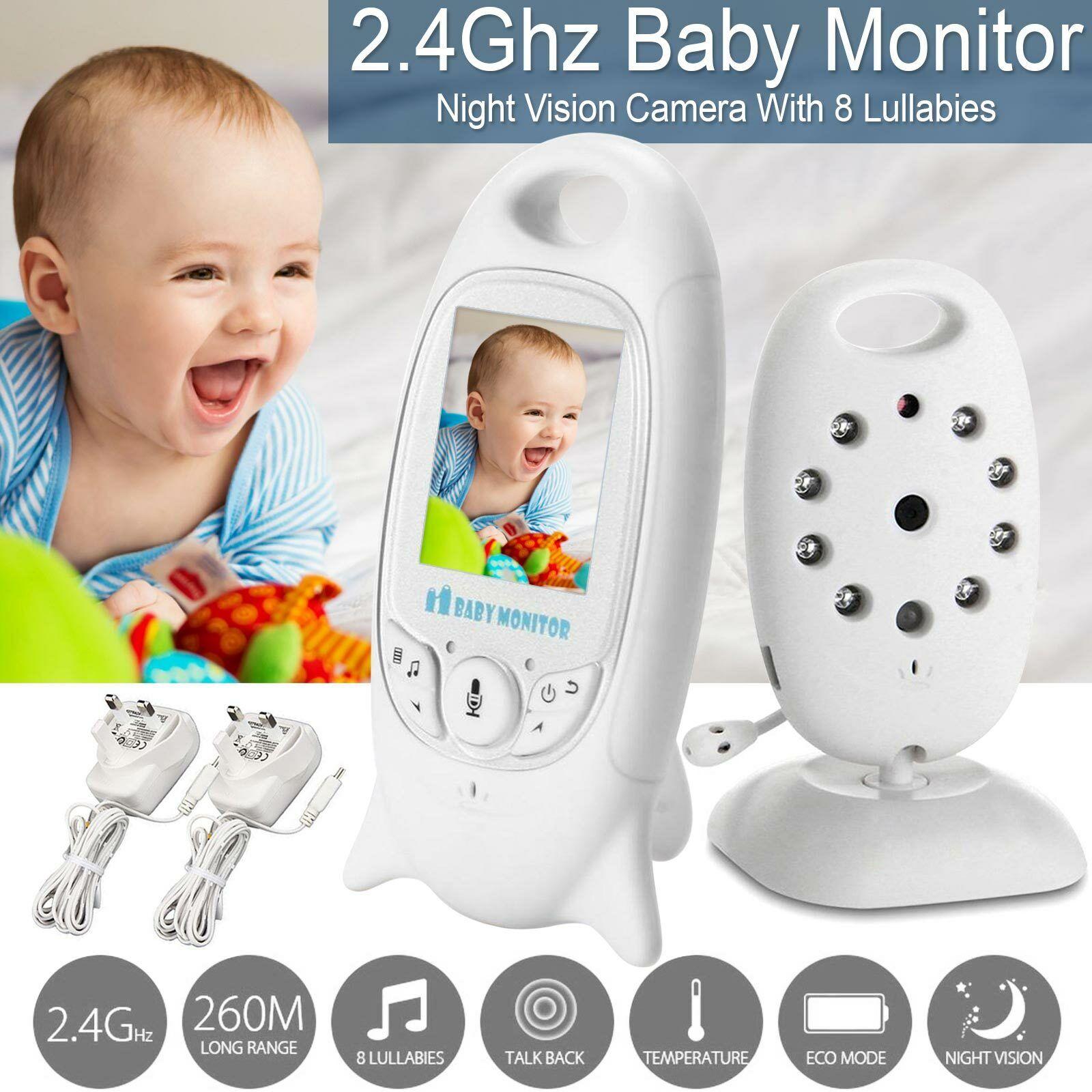2.4/'/'LCD Drahtlos Babyphone mit Kamera Video Audio Monitor Nachtlicht Babysitter