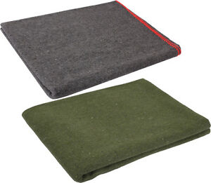 Wool-Emergency-Survival-Blanket-Rescue-Large-Cover-Throw-Bed-Camping-60-034-x-80-034